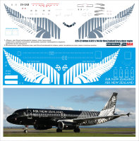 Лазерная декаль на Airbus A 320 Air New Zealand Crazy About rugby 1/144