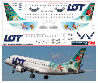 170 Лазерная декаль на Embraer 170 1/144 Lot Disney Planes