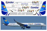 753 laser decal Boeing 757-300 Thomas cook Condor Snoopy for Eastern Express. PAS-DECALS. Minicraft 1/144