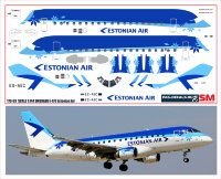 170 Лазерная декаль на Embraer 170 Estonian Air 1/144