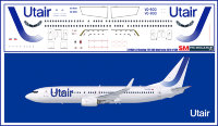 Лазерная декаль на Boeing 737-800 Utair new 1/144
