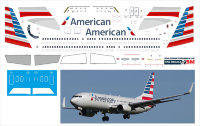 Декаль на Boeing 737-800  American Airlines New 1/144