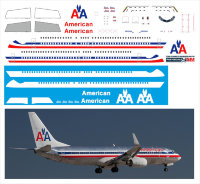 Декаль на Boeing 737-800  American Airlines old 1/144