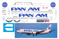 Декаль на Boeing 737-400 Pan Am 1/144