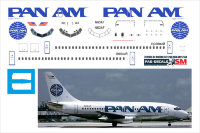 Декаль на Boeing 737-200 Pan Am 1/144