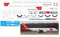 Лазерная декаль на Airbus A-321 АК RED WINGS new 2019 1/144