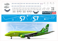 170-07 Лазерная декаль на EMBRAER 170 - S7 Airlines 1/144