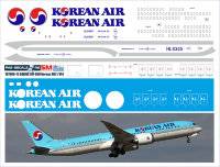 Лазерная декаль На BOEING 787-900 KOREAN AIR 1/144